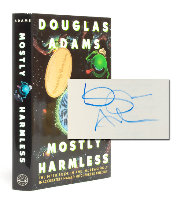 Mostly Harmless (Signed First Edition). Douglas Adams.