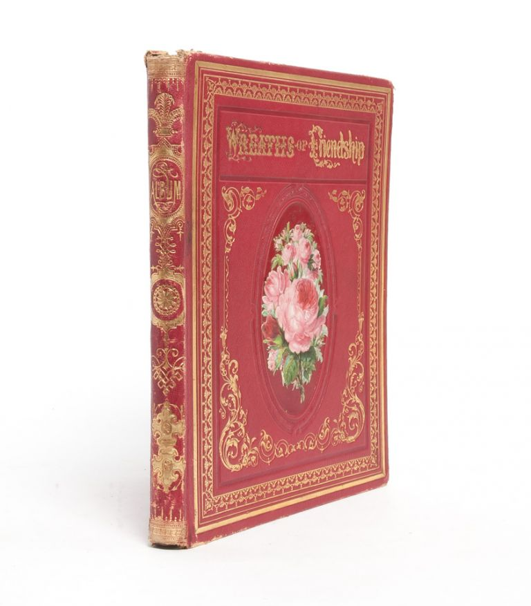 Literary commonplace book and friendship album of a 19th century California girl at an all...