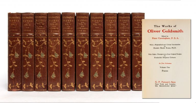 The Works of Oliver Goldsmith in 10 Volumes (Turk's Head Edition). Oliver Goldsmith, ed. Peter Cunningham.