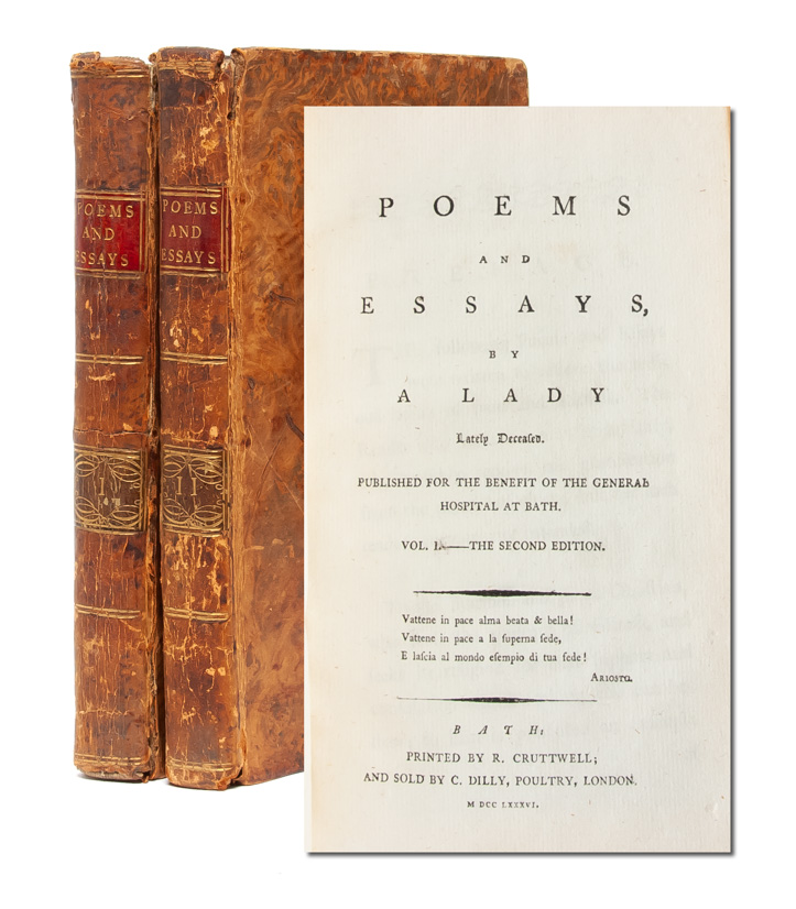 Poems and Essays by a Lady Lately Deceased (in 2 vols). Jane Bowdler.