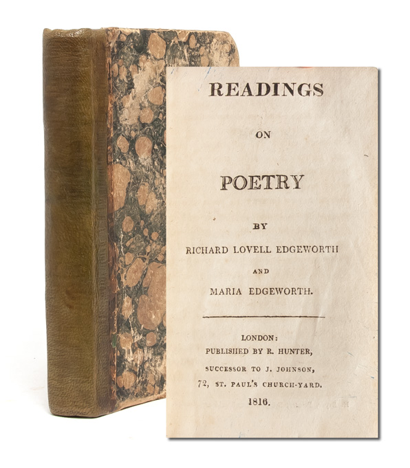 Readings on Poetry. Maria Edgeworth, and Richard Lovell Edgeworth.