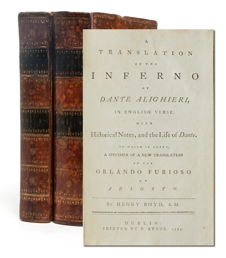 A Translation of the Inferno of Dante Alighieri, in English Verse. With Historical Notes on the...
