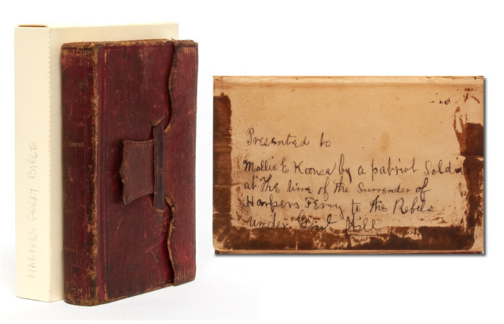 Pocket Bible given by a captured Union soldier to a woman in a prominent Unionist family