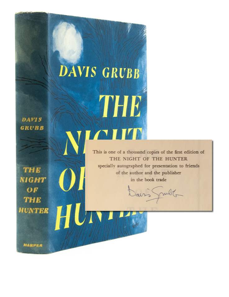 The Night of the Hunter (First edition signed). Davis Grubb.
