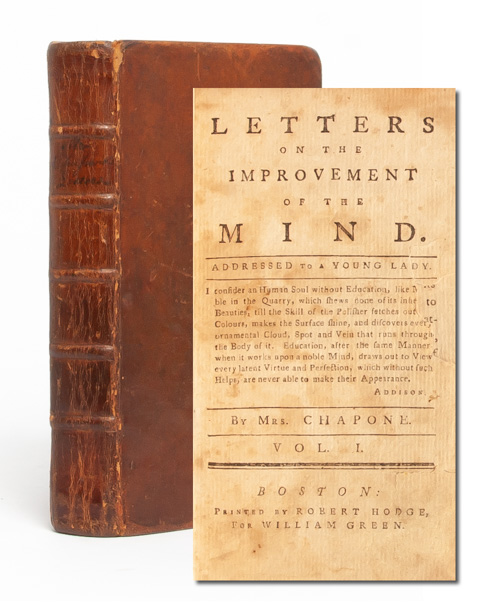 Letters on the Improvement of the Mind, Addressed to a Young Lady. Mrs. Hester Chapone.