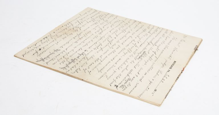 Handwritten suffrage speech from Pennsylvania's Justice Bell tour and the push for amendment...