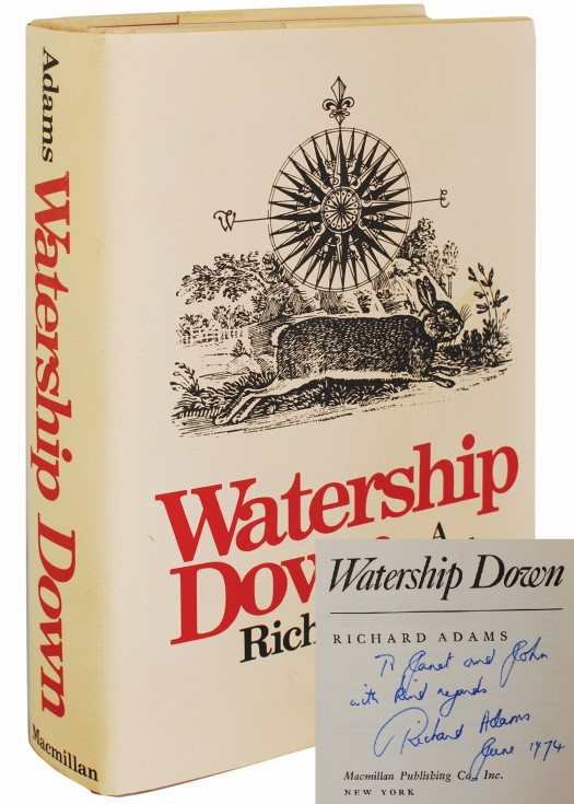 WATERSHIP DOWN (INSCRIBED FIRST EDITION). Richard Adams.