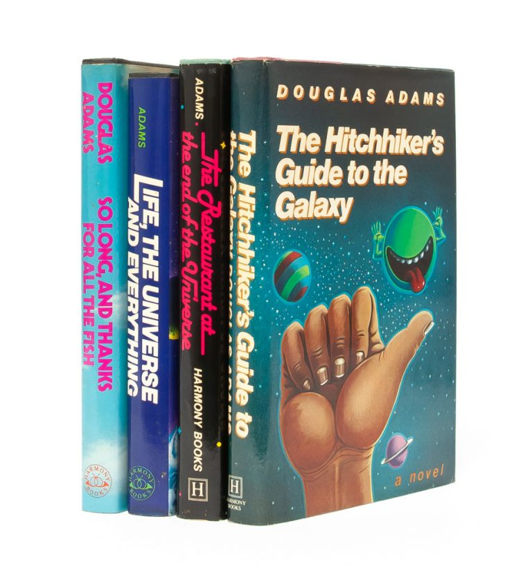 The Hitchhiker's Guide to the Galaxy series (Signed First editions). Douglas Adams.