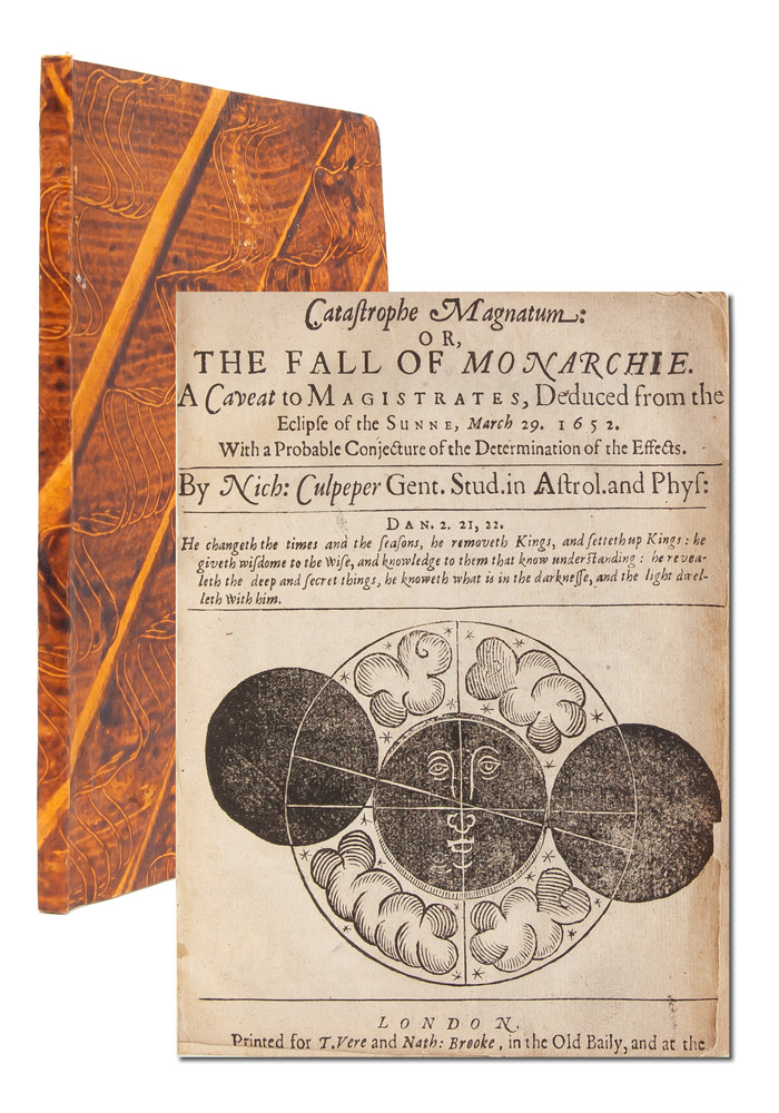 Catastrophe magnatum: or, The fall of monarchie. A caveat to magistrates, deduced from the eclipse of the sunne, March 29 1652. Nicholas Culpeper.