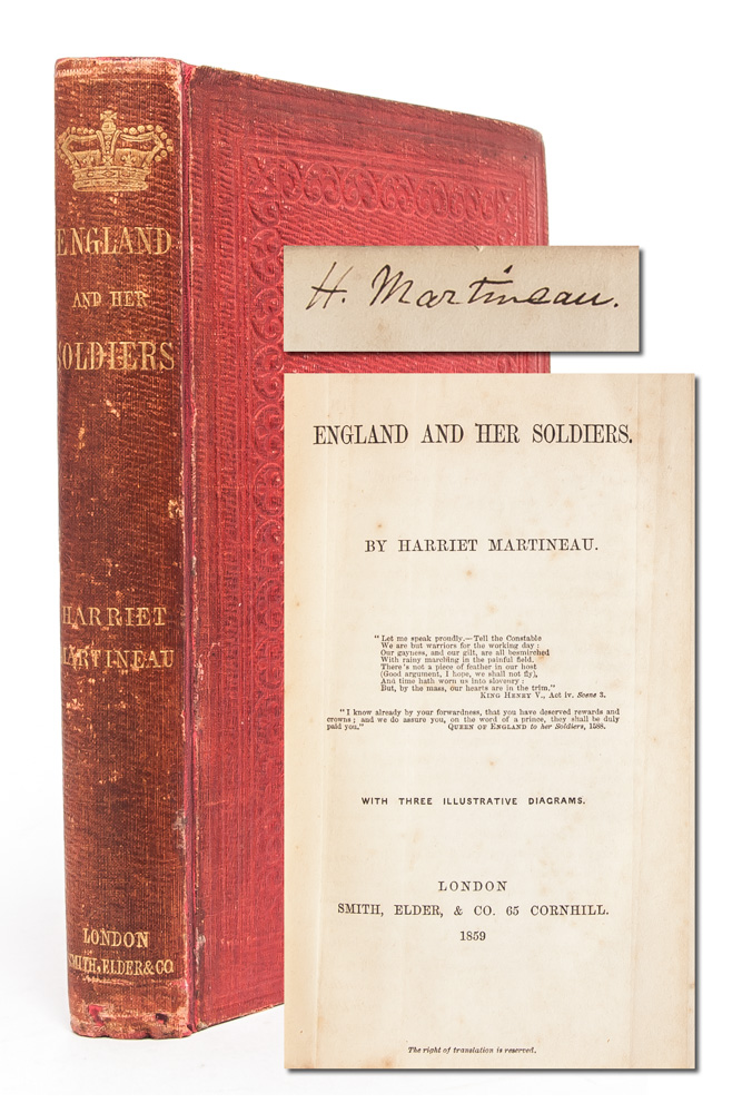 England and Her Soldiers (Author's copy with ALS). Harriet Martineau.