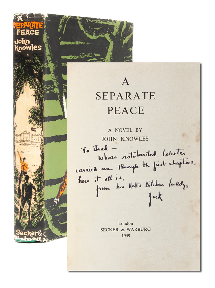 A Separate Peace (Presentation copy). John Knowles.