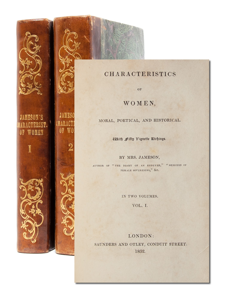 Characteristics of Women, Moral, Political and Historical with Fifty Vignette Etchings (in 2 vols.). Shakespeare, Anna Brownell Jameson.