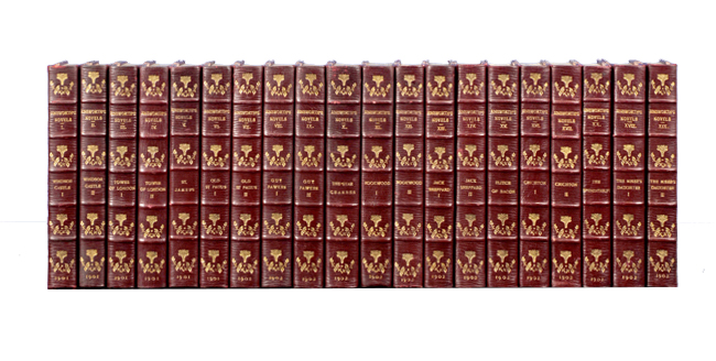 The Novels of William Harrison Ainsworth (in 20 vols). William Harrison Ainsworth.