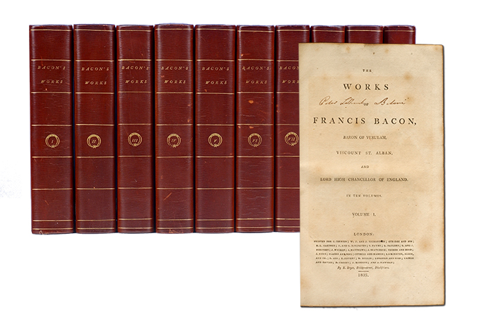 The Works of Francis Bacon (in 10 vols). Francis Bacon.