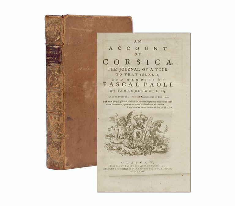 An Account of Corsica. James Boswell.