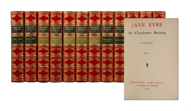 Novels of the Sisters Bronte (in 12 vols). Charlotte Bronte, and Anne, Emily.