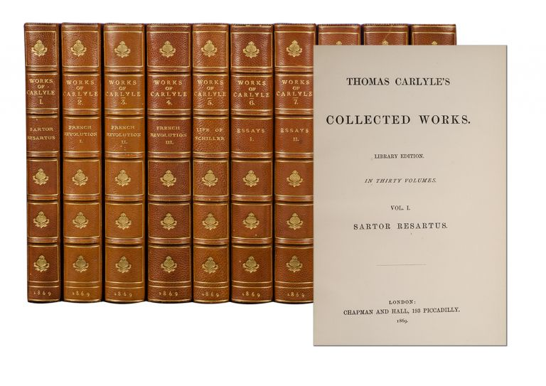 Thomas Carlyle's Collected Works [With] Translations from the German by Thomas Carlyle (in 34 vols). Thomas Carlyle.