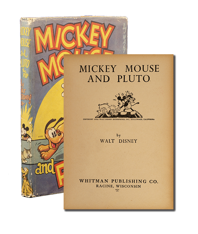 Mickey Mouse and Pluto. Walt Disney.