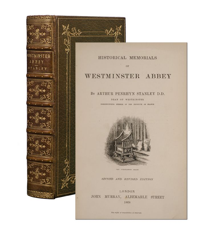 Historical Memorials of Westminster Abbey (Fore-edge Painting). Arthur Penrhyn Stanley.