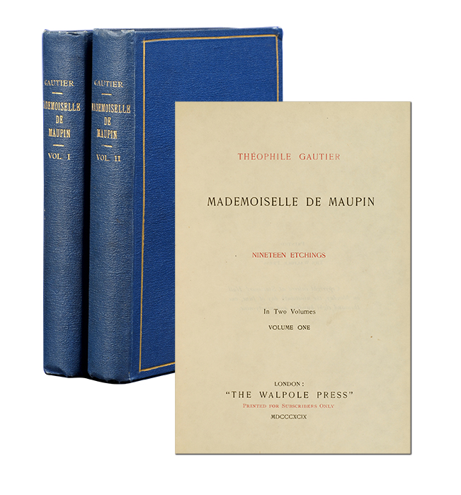 Mademoiselle de Maupin (in 2 vols). LGBTQ, Theophile Gautier.