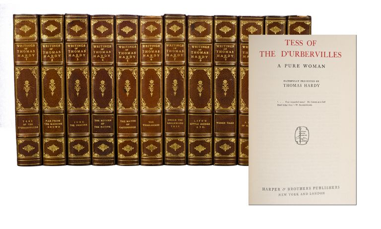 The Writings of Tomas Hardy in Prose and Verse. With Prefaces and Notes (in 21 volumes). Thomas Hardy.