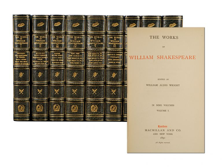 The Works of Shakespeare (in 9 vols). William Shakespeare.