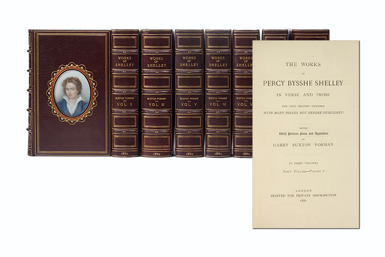 The Poetical Works of Percy Bysshe Shelley [with] The Prose Works of Percy Bysshe Shelley (in 8 vols