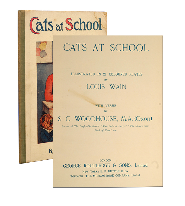 Cats at School. C. S. Louis Wain Woodhouse.