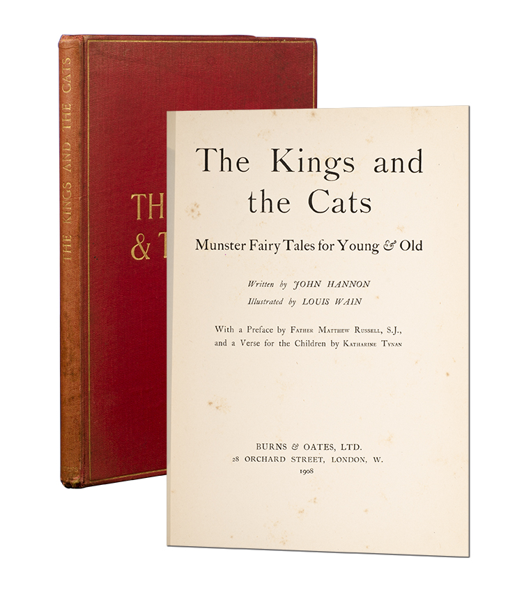 The Kings and the Cats. Munster Fairy Tales for Young & Old. John. Louis Wain Hannon.