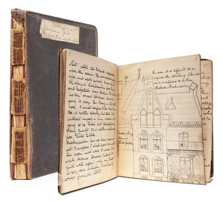 """Manuscript diary of consul's daughter during her education in Hanover. Diary, Mary Emma """"Daisy"""" Spaight."""