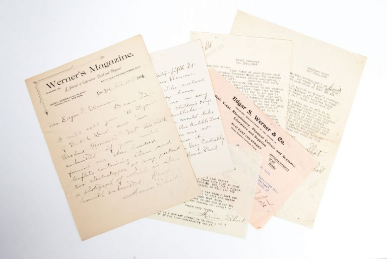 Letters from a prolific dramatic writer to her publisher. Women in Theater, Marion Short, Publishing.