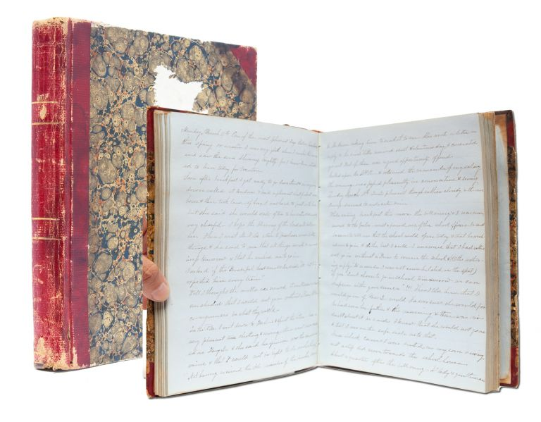 Manuscript diary documenting a young woman's love of literature and learning, and her experience teaching. Diary of a. Female Teacher.