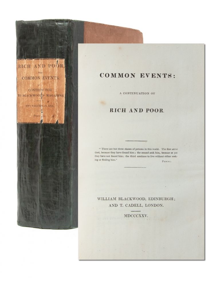 Rich and Poor [bound with] Common Events: A Continuation of Rich and Poor