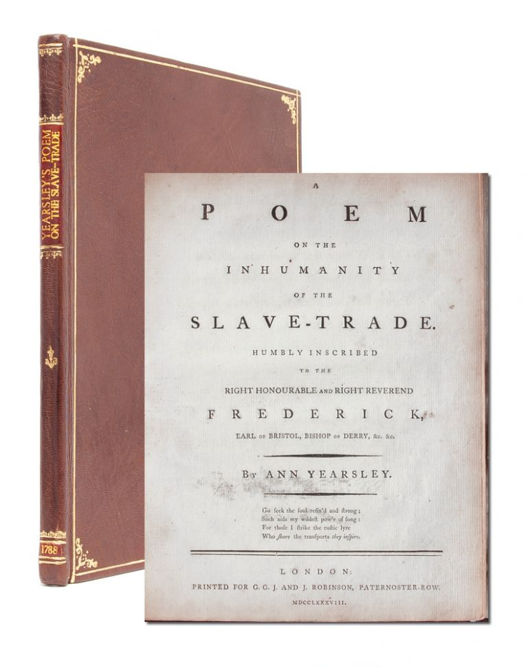A Poem on the Inhumanity of the Slave-Trade