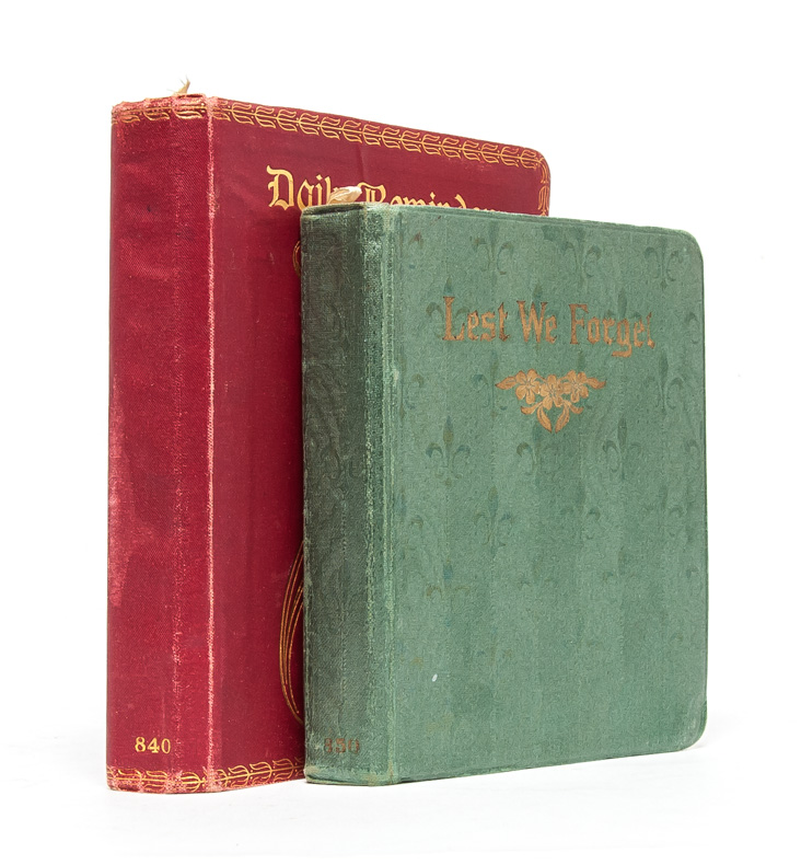 Pair of diaries documenting two important years in the life of a young woman. Suffrage Diaries, Ruth Marden.
