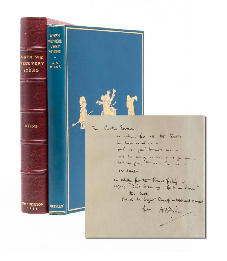 When We Were Very Young (Presentation Copy). A. A. Milne, E. H. Shepard.