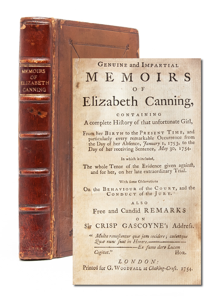 Genuine and Impartial Memoirs of Elizabeth Canning, Containing a Complete History of that...