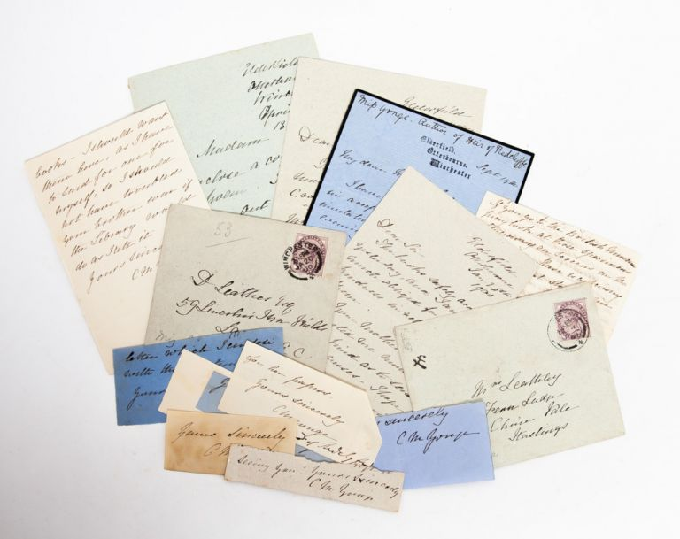 Collection of Autograph Letters Signed by a popular novelist. Charlotte Yonge.