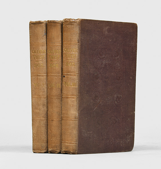 Oliver Twist; Or the Parish Boy's Progress (in 3 vols.). Charles Dickens, Boz.