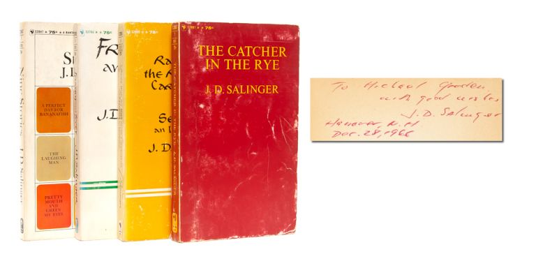 Complete set of works in four volumes (Each book inscribed by the author). J. D. Salinger.