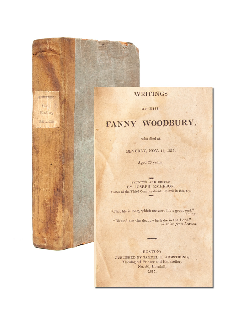 The Writings of Miss Fanny Woodbury, Who Died at Beverly Nov 15, 1814 Aged 23 Years. Fanny Woodbury, People, Disabilities.
