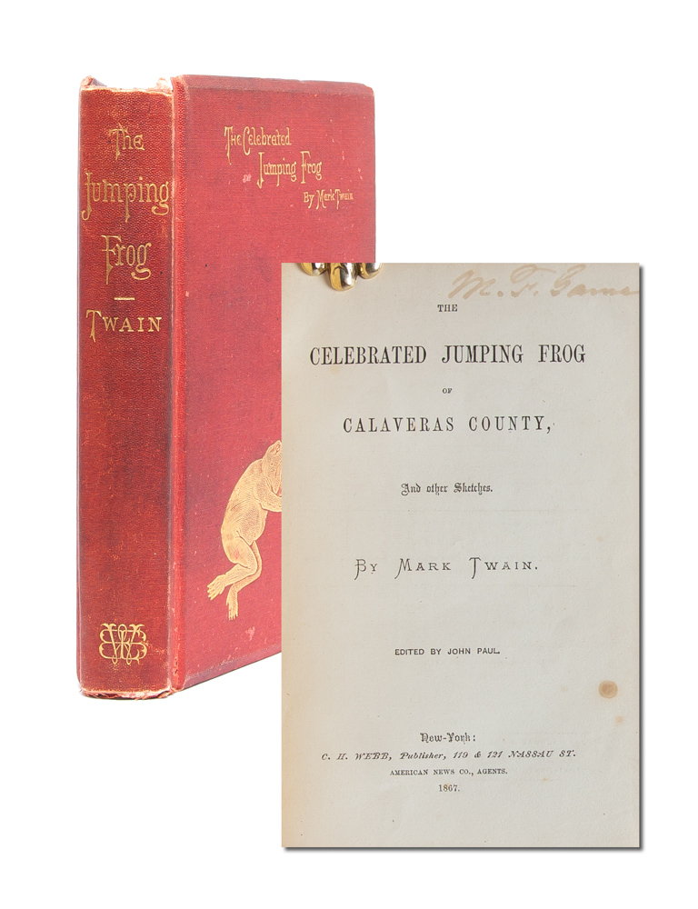 The Celebrated Jumping Frog. Mark Twain, Samuel Clemens.