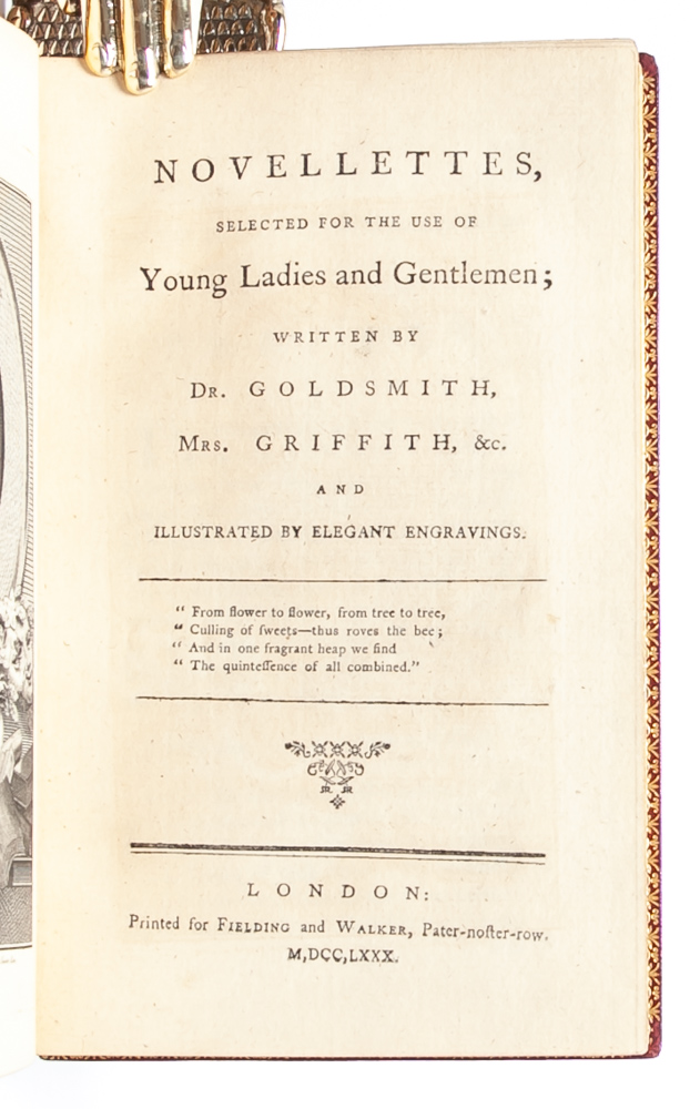 Novellettes, Selected for the Use of Young Ladies and Gentlemen. Griffith Mrs., Dr. Oliver Goldsmith, Elizabeth.