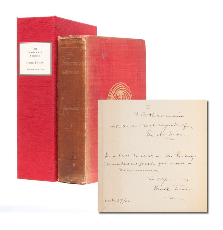 The Innocents Abroad (Inscribed with Aphorism). Mark Twain, Samuel L. Clemens.