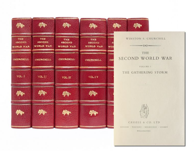 The Second World War (Finely bound in 6 volumes). Winston Churchill.
