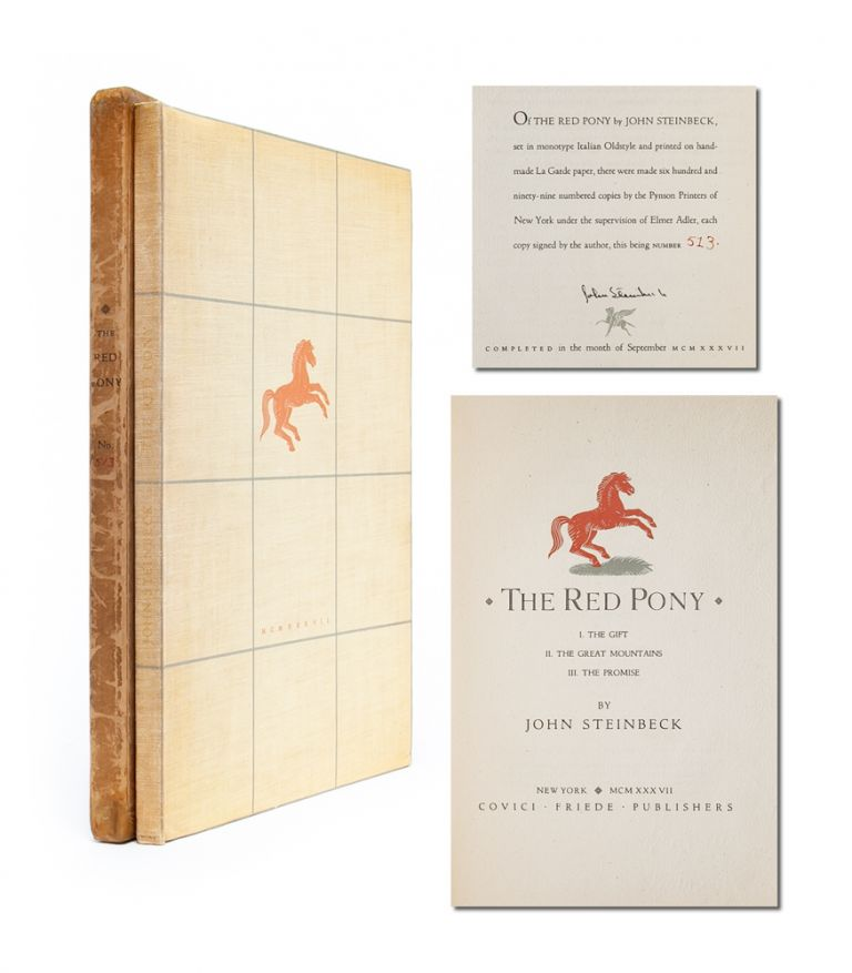 The Red Pony (Signed Limited Edition). John Steinbeck.