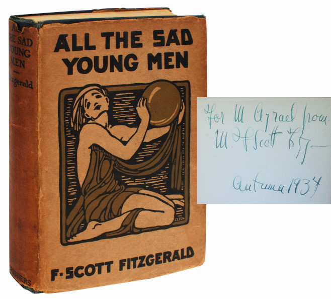 ALL THE SAD YOUNG MEN (INSCRIBED, FIRST EDITION). F. Scott Fitzgerald.