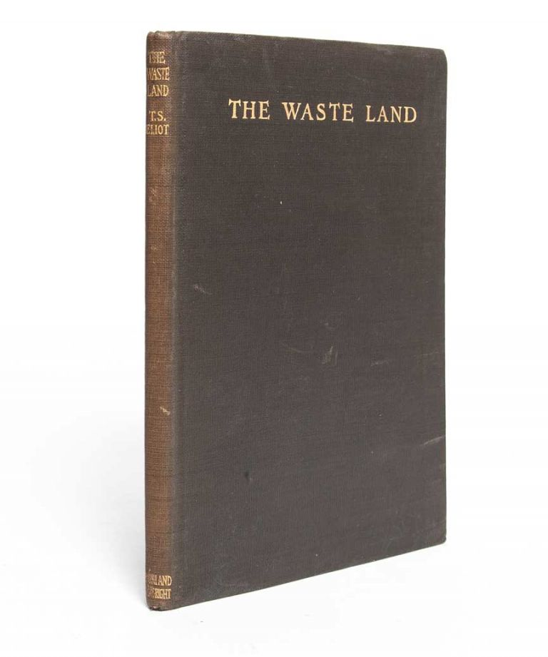 The Waste Land. T. S. Eliot, Thomas Stearns.
