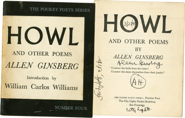HOWL (Signed, First Edition). Allen Ginsberg, Lawrence Ferlinghetti.