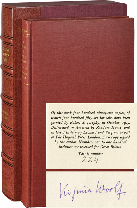 A Room of One's Own (Signed Limited Edition). Virginia Woolf.